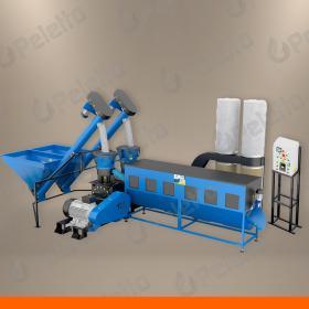Linia do produkcji peletu PELETON 3000 DUO   49kW   700kg/h dla peletu